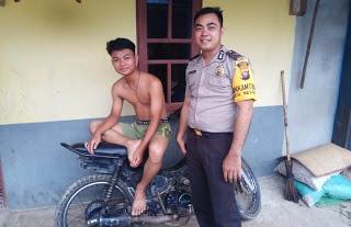 Sambangi Pemuda Desa Binaan Bhabinkamtibmas Himbau Jauhi Narkoba dan Kenakalan Remaja