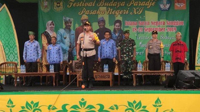 Kapolres Sanggau Pimpin Apel Kesiapan Pengamanan Festival Budaya Paradje