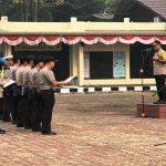 Pimpin Apel Pagi, Kapolres Sanggau Cek Kerapian Anggotanya
