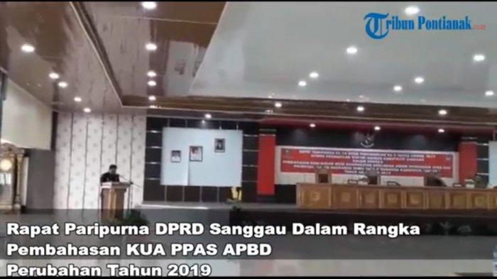 VIDEO: Rapat Paripurna DPRD Sanggau Dalam Rangka Pembahasan KUA PPAS APBD Perubahan Tahun 2019