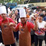 HUT DWP XX Tahun 2019, Kepala BAPENDA Kabupaten Sanggau, Wellem Suherman Ikut Memeriahkan Lomba Nasi Goreng Antar Kepala OPD Kabupaten Sanggau