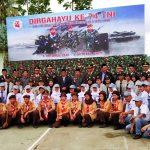 Wakil Bupati Sanggau Hadiri Upacara HUT ke-74 TNI di Makodim 1204/Sgu