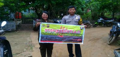 Stop Karhutla Brigadir Hemy Khoirul Anam Sampaikan Melalui Sambang