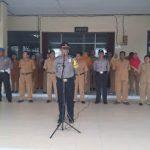 Kabagops Pimpin Upacara Bendera di SMK Tri Darma Sanggau