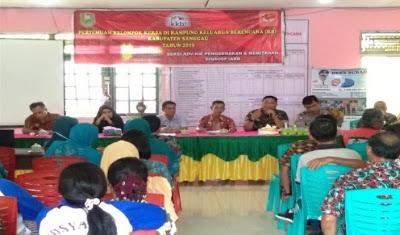 Bhabinkamtibmas Hadiri Pertemuan Kelompok Kerja Kampung KB Desa Subah