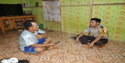 Melaksanakan DDS Brigadir Hendri Sampaikan Himbauan Kamtibmas