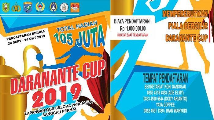 Daranante Cup 2019 Segera Dimulai, Panitia Siapkan Hadiah Rp 105 Juta