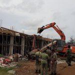 Satpol PP Eksekusi Bangunan Ruko yang Berdiri di Atas Tanah Pemda Sanggau
