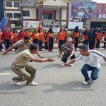 Wabup Yohanes Ontot Ikuti Tarian Kreasi Massal Polres Sanggau