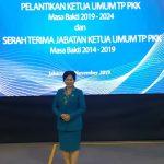 Ketua TP-PKK Kabupaten Sanggau Ny.Arita Apolina Hadir Dalam Pelantikan Ketua Umum TP-PKK Pusat