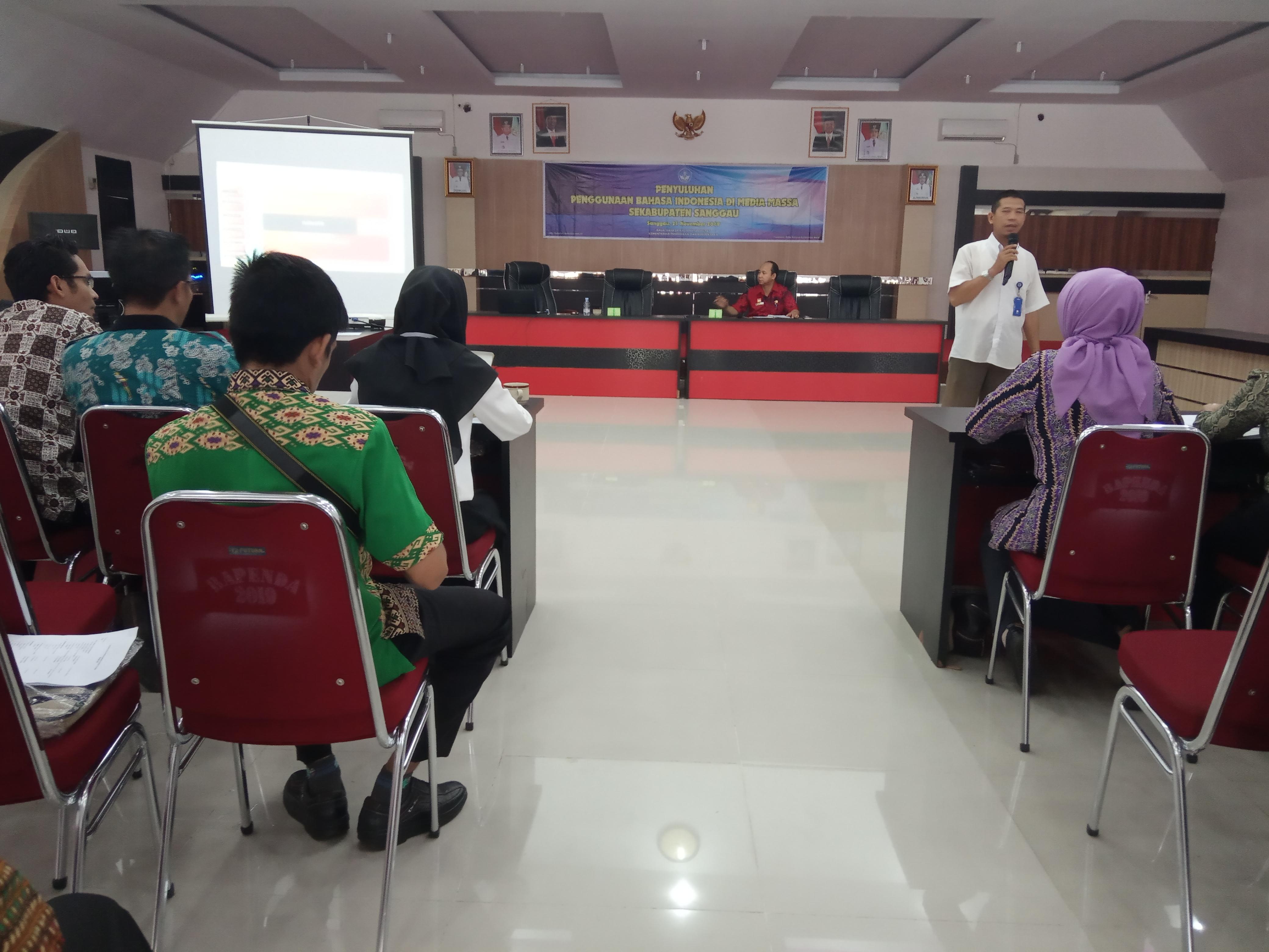 Balai Bahasa Kalbar Gelar Sosialisasi Penyuluhan Penggunaan Bahasa Indonesia