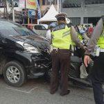 Kecelakaan Beruntun di Jalan Jenderal Sudirman Sanggau