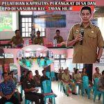 Pelatihan Kapasitas Perangkat Desa dan BPD Desa Subah Kec. Tayan Hilir
