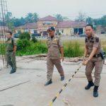 Sat Pol PP Hentikan Pembangunan Ruko