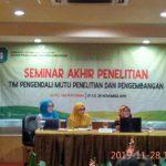Seminar Hasil Penelitian Terhadap Dampak Program Pembangunan Pertanian Kawasan Perbatasan