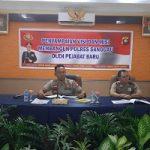 Penyampian Visi dan Misi para Pejabat Baru di Lingkungan Polres Sanggau
