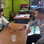 Bhabinkamtibmas Berkoordinasi dengan Kepala Desa Ajak Jaga Harkamtibmas