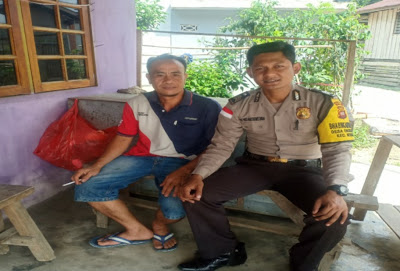 Sambangi Warga Brigpol Denis Ardiansyah Sampaikan Himbauan Kamtibmas