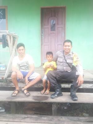 Bripka Gunawan Setiawan Sampaikan Himbauan Kamtibmas Melalui Sambang