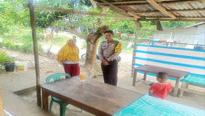 Patroli Dialogis Brigpol Denis Ardiansyah Sampaikan Himbauan Kamtibmas