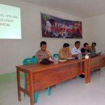 Bhabinkamtibmas Hadiri Pelaksanaan Sosialisasi Anti NAPZA di Desa Sebongkuh Kecamatan Kembayan