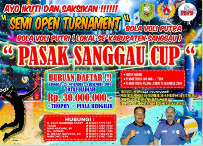 Akan Segera Digelar Turnamen Bola Voli Pasak Sanggau Cup Tingkat Kabupaten Sanggau Tahun 2019