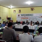 KPU Gelar Rakor Evaluasi Tahapan Pencalonan Anggota DPRD Sanggau Pemilu 2019