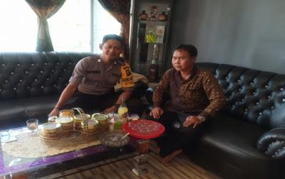 Brigpol Denis Sambangi Sdr. Sumardi dan Berikan Himbauan Kamtibmas