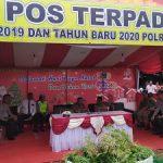 Kapolres Sanggau Cek Pos Terpadu Natal 2019 dan Tahun Baru 2020