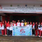 Pemkab Sanggau Gelar Jalan Sehat Dalam Memperingati Hari Ibu ke-91 Tahun 2019