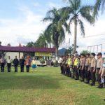 Apel Bersama Persiapan Pengamanan Ibadah Misa Malam Natal dan Sterilisasi Gereja di Wilkum Polsek Entikong