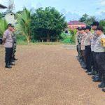 Kapolsek Jangkang Pimpin Apel Kesiapan Misa Natal 2019