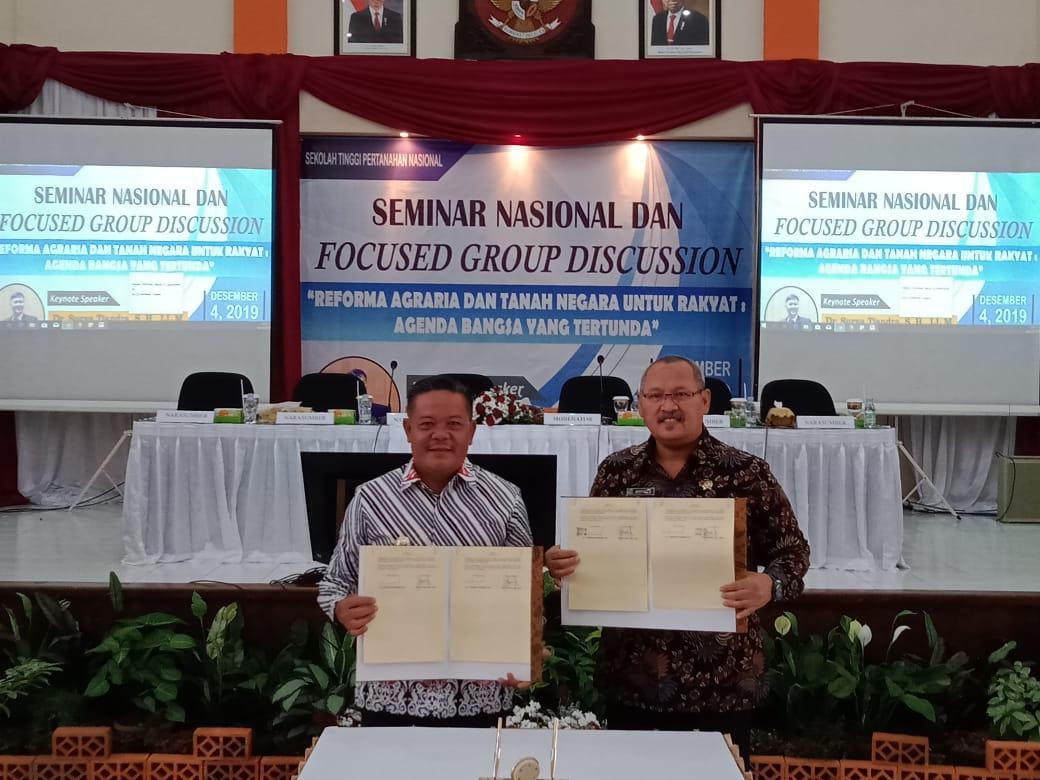 Dorong Penguatan SDM, Pemkab Sanggau MoU Dengan STPN Yogyakarta
