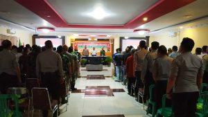 Polres Sanggau Melaksanakan Rakor Lintas Sektoral Dalam Pengamanan Natal dan Tahun Baru