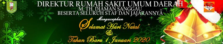 RSUD M.Th.Djaman Mengucapkan Selamat Hari Natal dan Tahun Baru