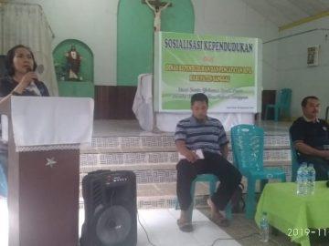 Sosialisasi Administrasi Kependudukan di dusun suak pram, Desa Pampang dua, kecamatan Meliau. Jumat, 29 November 2019