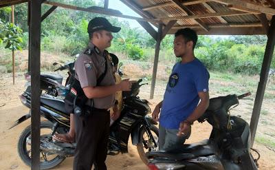 Patroli Dialogis Brigpol Febri Tri Suhardi Himbau Waspada Pencurian Kendaraan Bermotor