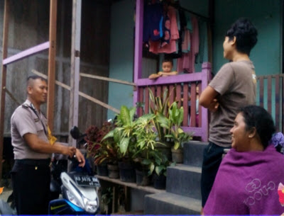 Waspadai Tindak Kejahatan Bripka Saprin Gunawan Rutin Melaksanakan Patroli Dialogis