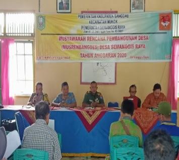 Bhabinkamtibmas Hadiri Kegiatan Musrembangdes di Desa Samanngis Raya