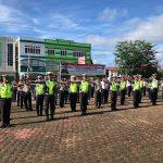 Polres Sanggau Laksanakan Pembinaan Dan Latihan Penggunaan Borgol, Tongkat Polri Dan 12 Gerakan Pengaturan Lalulintas