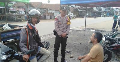 Waspada Pencurian Kendaraan Bripka Deni Irawan Sampaikan Melalui Patroli