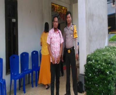 Bhabinkamtibmas Berikan Pelayanan Melalui Pam Gereja HKBP