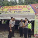 Kapolres Sanggau Tinjau Posko Siaga Bencana dan Posko Pengamanan Natal