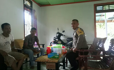Brigpol Yulianus Ciun DDS ke Rumah Warga Binaan di Desa Lumut Kecamatan Toba