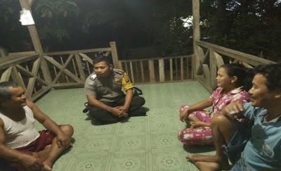 Menyatu Dengan Warga Bripka Ahmad Kardoyo Berikan Himbauan Kamtibmas