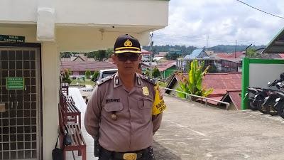 Kabagops Polres Sanggau Pimpin PAM Sidang di Pengadilan Negeri Sanggau