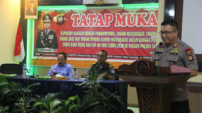 Kapolres Sanggau Tatap Muka dengan Tokoh Masyarakat dalam rangka Pengamanan Imlek dan Cap Go Meh