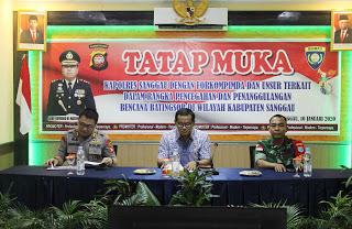 Polres Sanggau Gelar Tatap Muka Penanganan dan Penanggulangan Bencana di Wilayah Kabupaten Sanggau