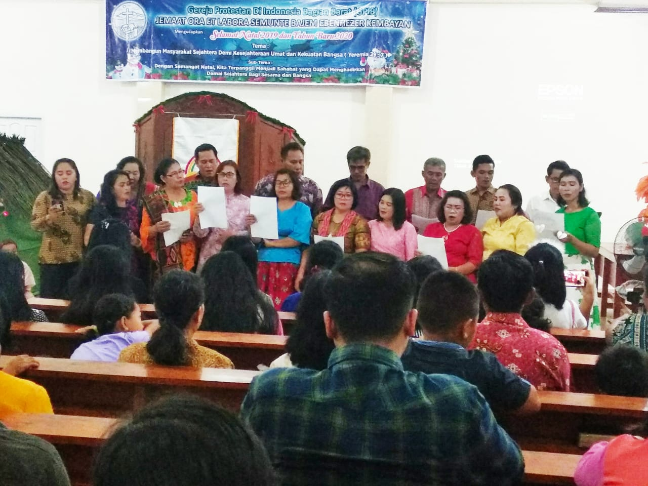 Begini Suasana Natal Bersama Gereja GPIB Bajem Eben Haezer di Kembayan