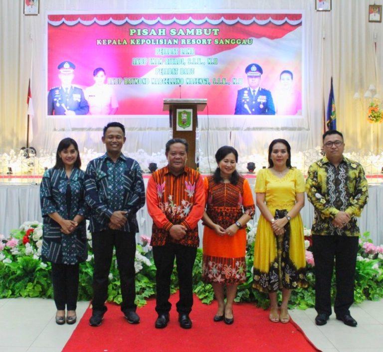 Pisah-Sambut Kapolres Sanggau, AKBP Raymond Marcellino Masengi Jabat Kapolres Baru Sanggau